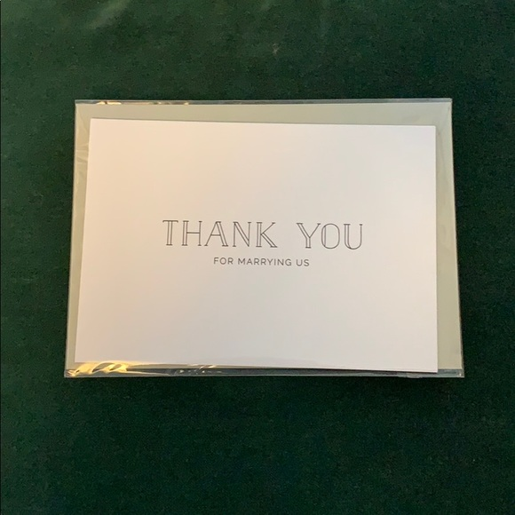 Thank You Card For Wedding Officiant Nwt